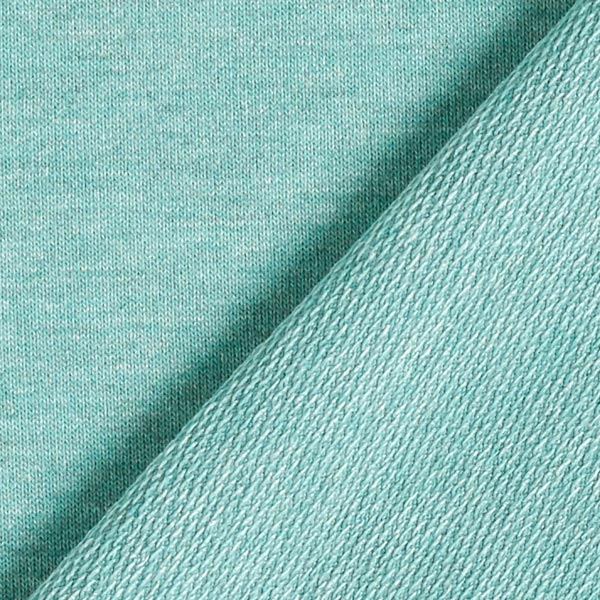 French Terry chiné fin – vert/gris