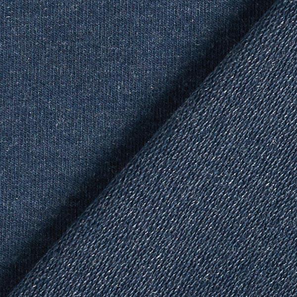 French Terry chiné fin – bleu marine/gris