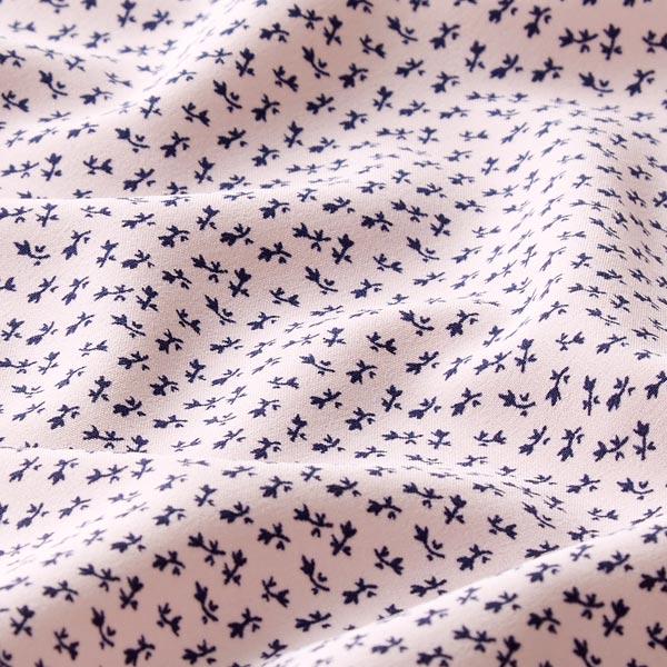 Tissu pour chemisier Petites branches de fleurs – rose clair/navy