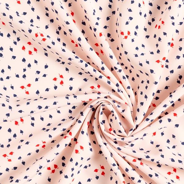 Tissu pour chemisier Pluie de feuilles – rosé/bleu marine