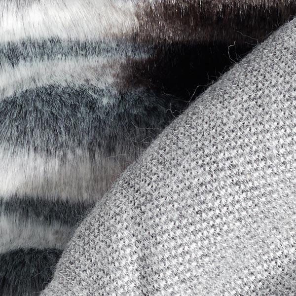 Fourrure synthétique Aspect Seersucker – gris/marron