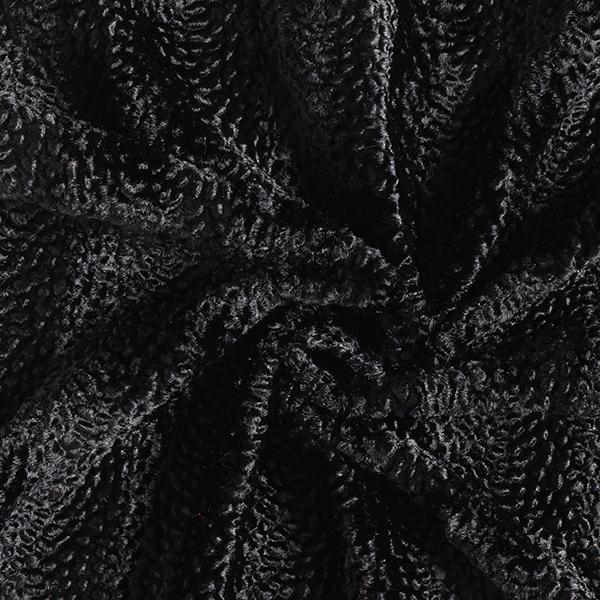 Fourrure synthétique Tissu Krimmer aspect serpent – noir