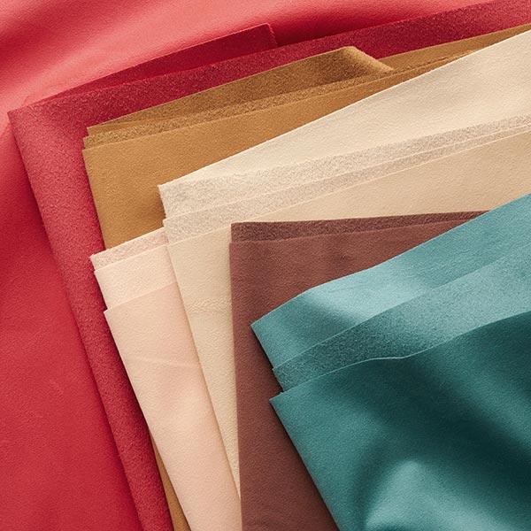 Tissu d'ameublement Velours – rouge vif