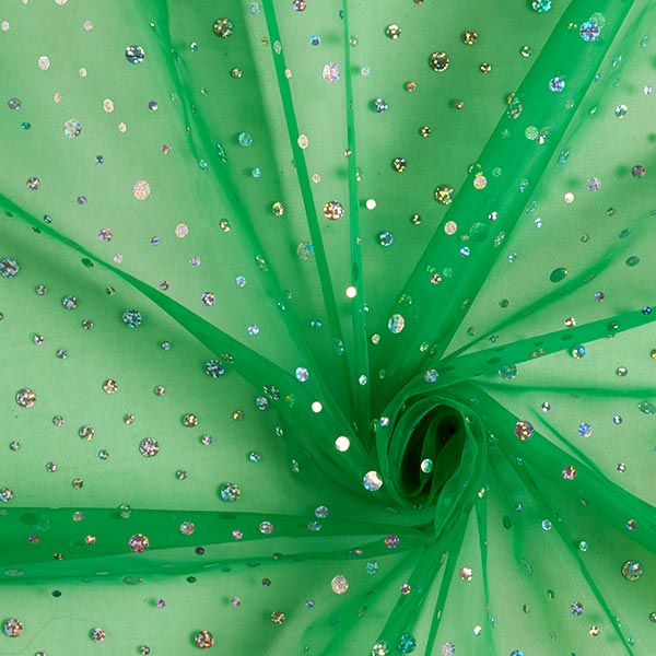 Organza hologramme Paillettes – vert