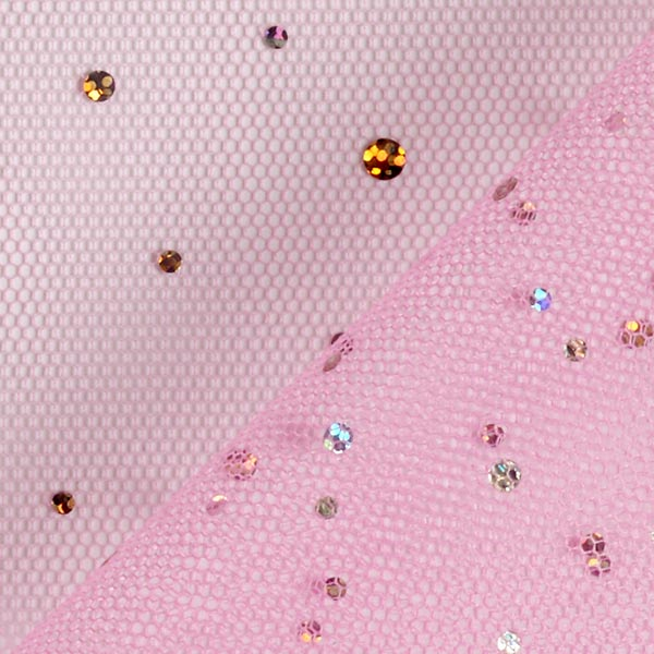Tulle hologramme Paillettes – rose