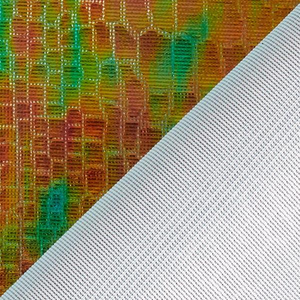 Tissu feuille Ecailles de peau de dragon Hologramme – vert