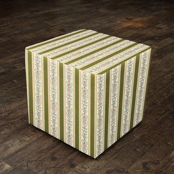 Tissu d'ameublement jacquard Rayures Biedermeier – crème/olive