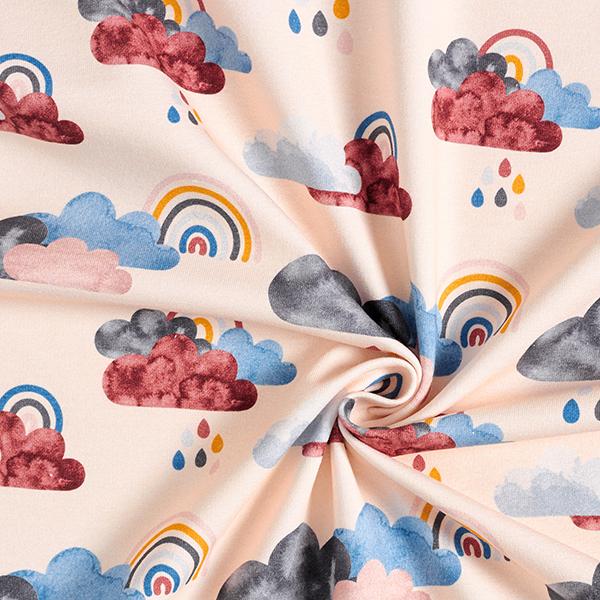 French Terry Sweat d'été Regenwetter | Contest Collection – rose clair/rouge bordeaux