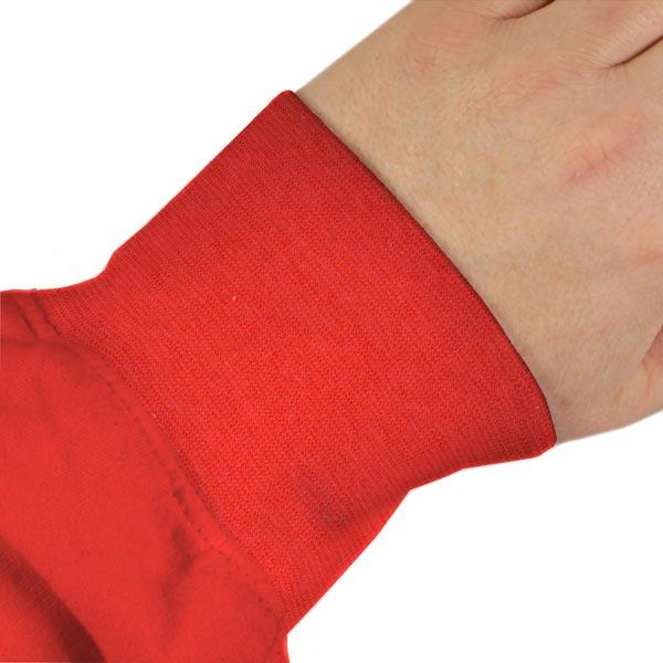 Bord-côté lisse bio – rouge vif