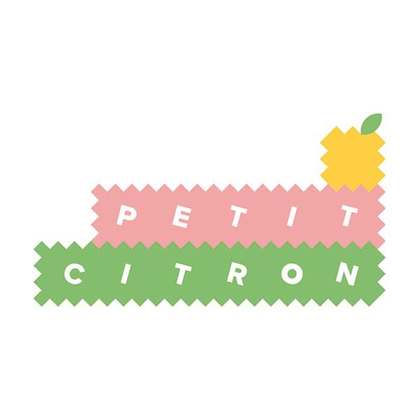 Popeline coton OVNIS dans l'espace | PETIT CITRON – bleu marine/orange