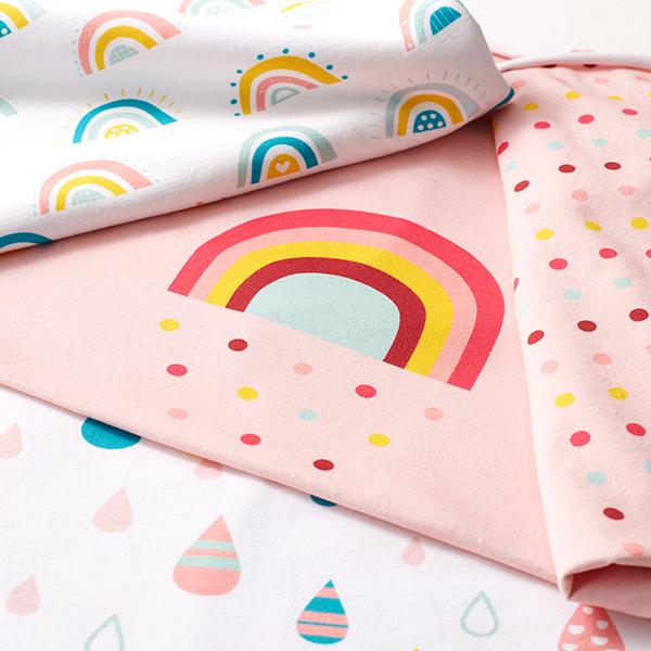 Jersey coton Arcs-en-ciel multicolores | Petit Citron – blanc