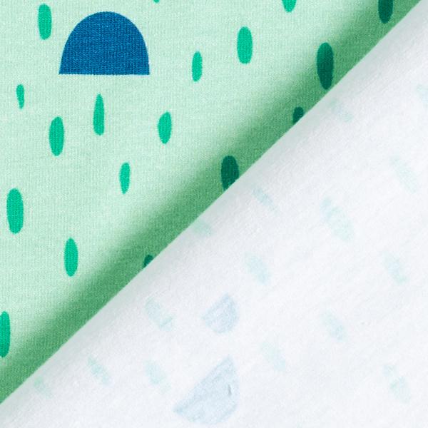 Jersey coton Panel T-Rex mignon   PETIT CITRON – vert menthe