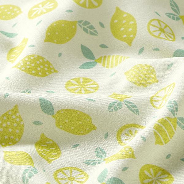 Popeline coton Citrons   PETIT CITRON – jaune clair