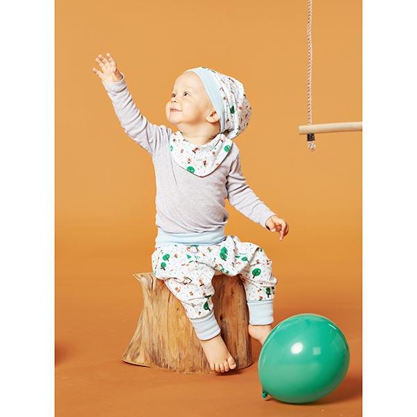 Jersey coton Aire de jeux | PETIT CITRON – blanc/vert herbe