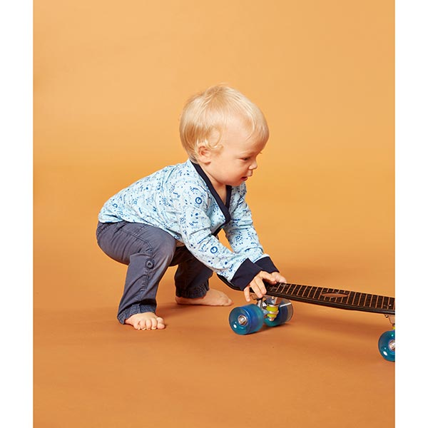 Jersey coton Skate-Animaux | PETIT CITRON – bleu aqua/bleu roi