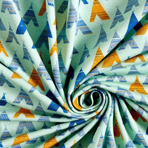 Jersey coton Tipis colorés | PETIT CITRON – vert pastel/bleu roi
