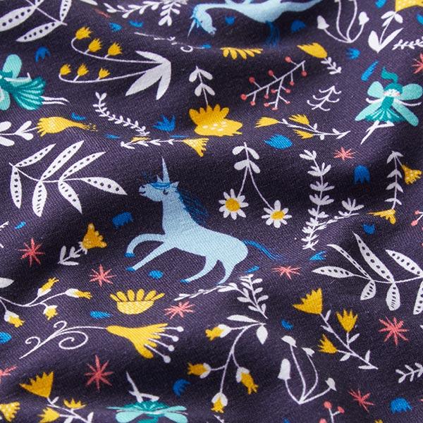 Sweatshirt angeraut Zauberwald | PETIT CITRON – marineblau/hellblau