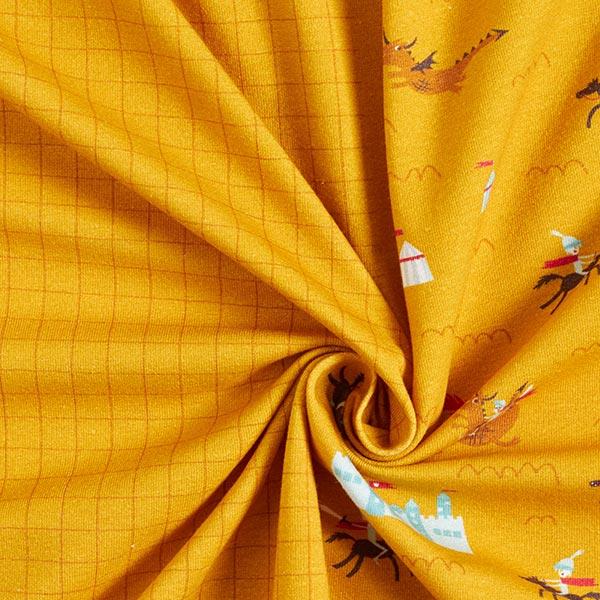 Jersey coton Panel Chevalier courageux  | PETIT CITRON – curry/marron clair