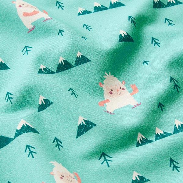 Sweatshirt gratté Yeti | PETIT CITRON – vert menthe/crème