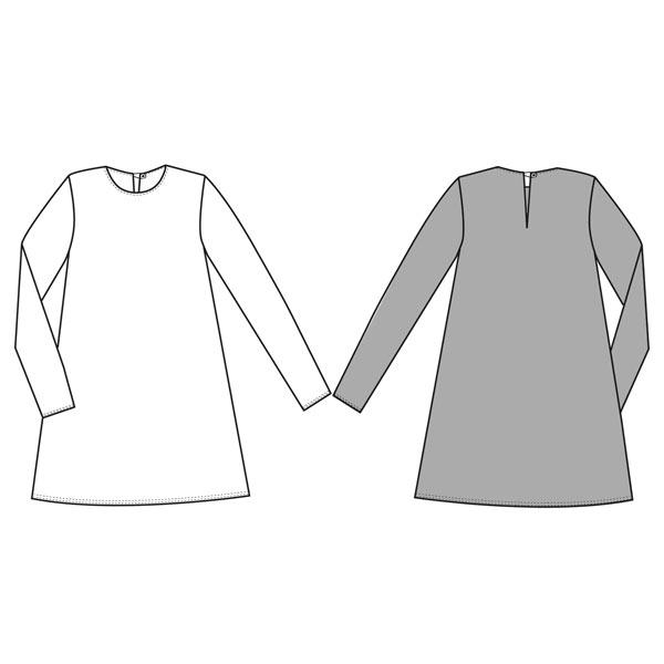 Patron de couture robe trapèze décontractée