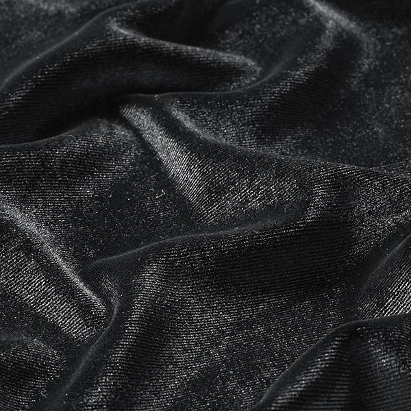 Velours stretch Uni – noir
