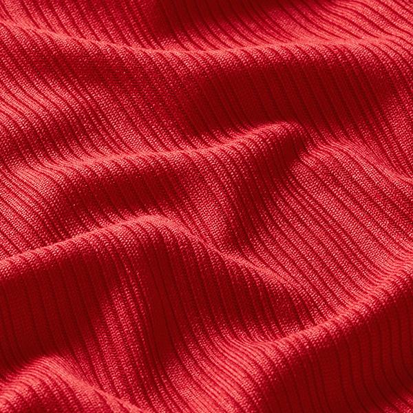 Jersey côtelé Uni – rouge