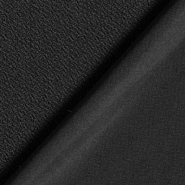 Jersey Jacquard Crêpe Uni – noir