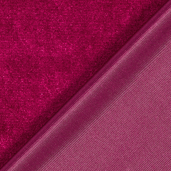 Velours stretch Uni – rouge bordeaux