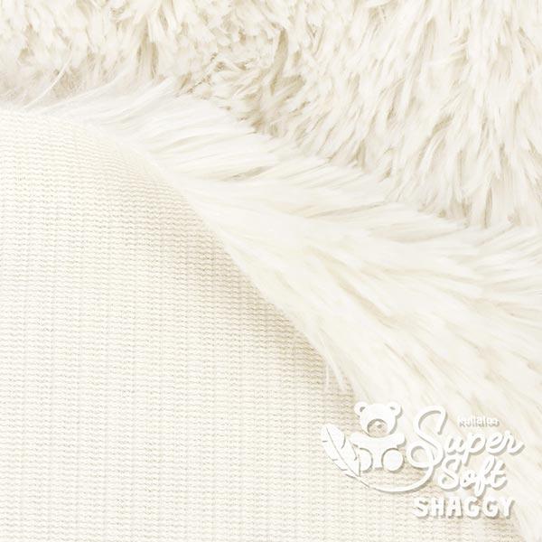 Peluche à poils longs Shaggy [1 M X 0,75 M   Flor: 20 MM] - blanc cassé    Kullaloo
