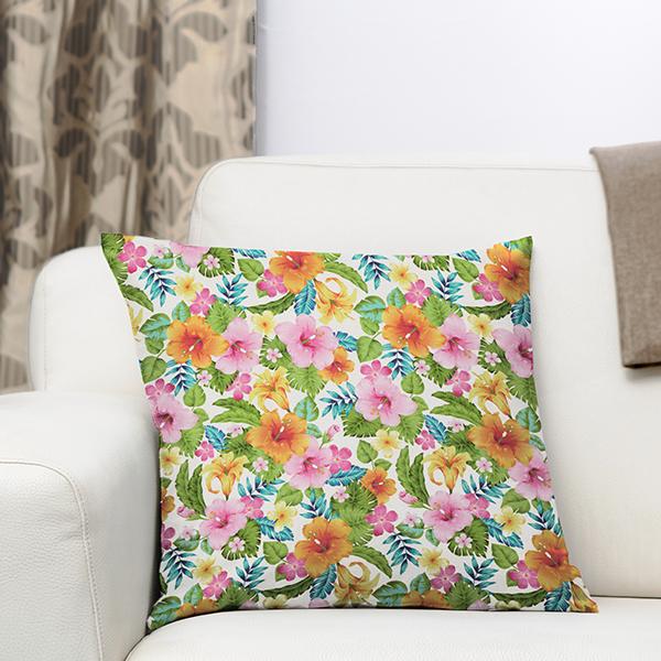 Tissus de décoration Impression numérique Tropical – blanc