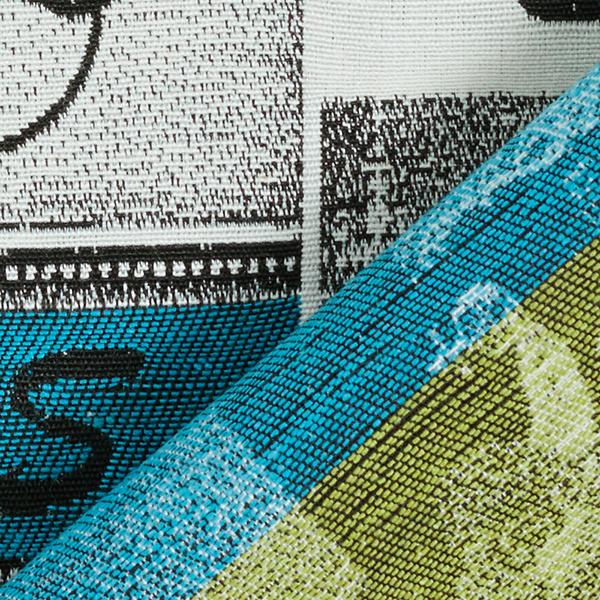 Tissu de décoration Gobelin Collage vintage – blanc