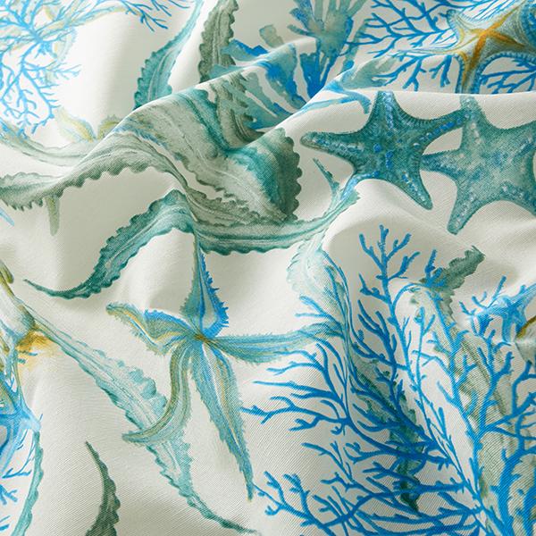 Tissu de décoration CanvasRécif de corail – bleu