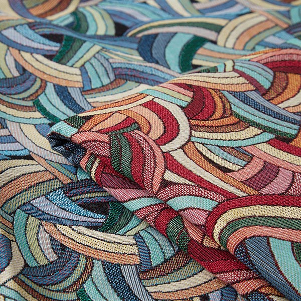 Tissu de décoration gobelin Duala – bleu