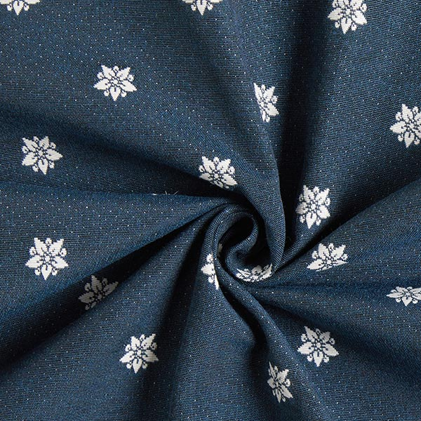 Tissu de décoration Jacquard Noruega – écru/bleu