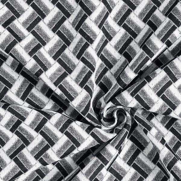 Tissu de décoration Jacquard Zigzag – noir