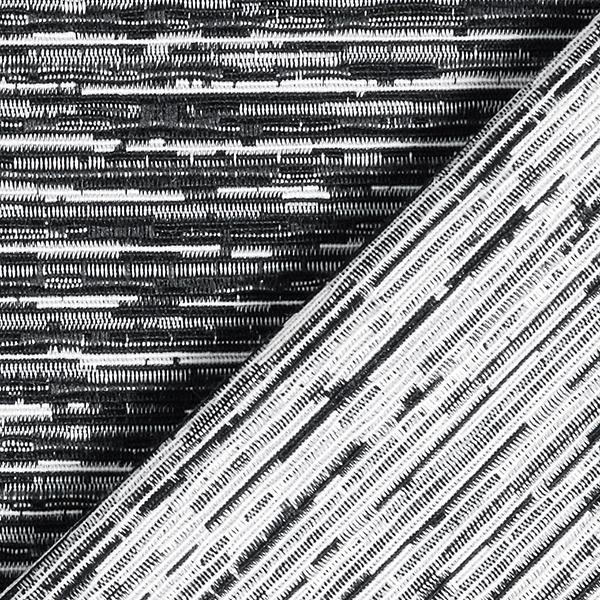 Tissu de décoration Jacquard Rayures – noir
