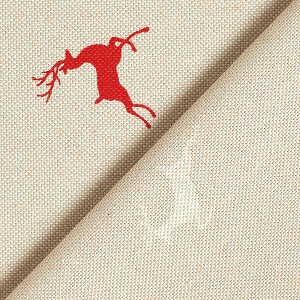 Tissu de décoration Cerf – rouge