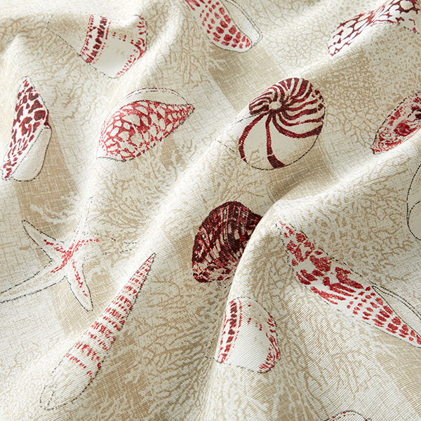 Tissu de décoration CanvasCoquillages – rouge