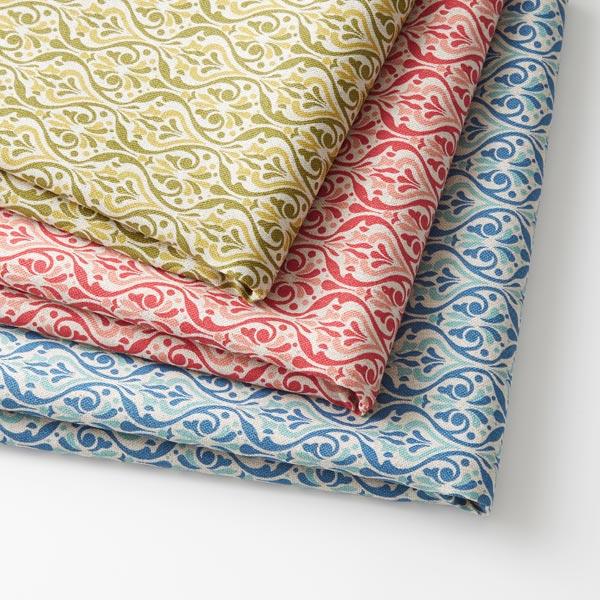 Tissu de décoration Aspect lin Ornements – bleu
