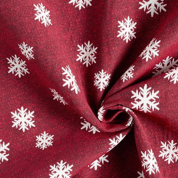Tissu de décoration Jacquard Flocon de neige – carmin/écru