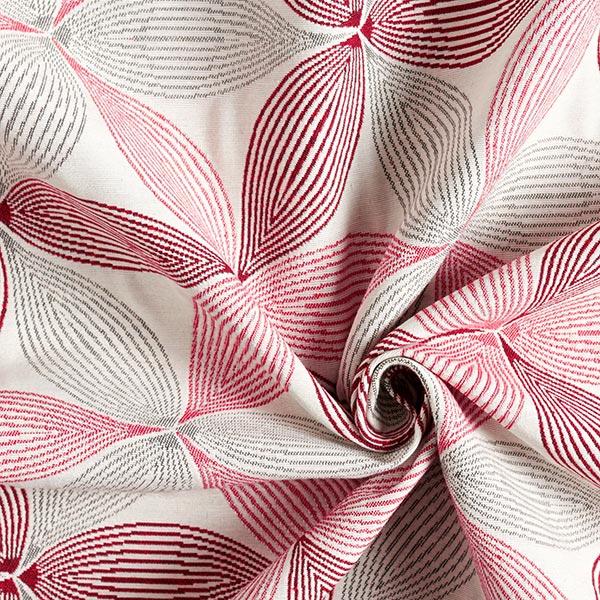 Tissu de décoration Jacquard Fleur de Vie grand – écru/gris