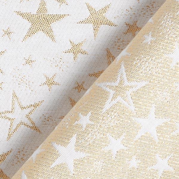Tissu de décoration Jacquard Ciel étoilé étincelant – or/écru