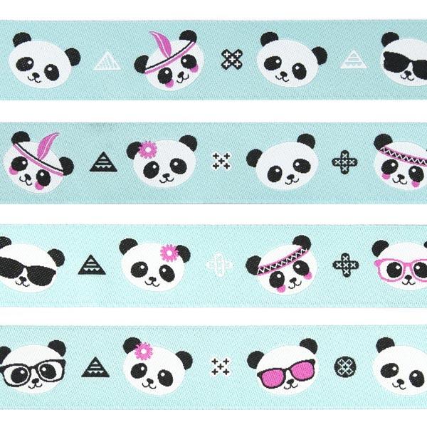 Bande tissée Panda