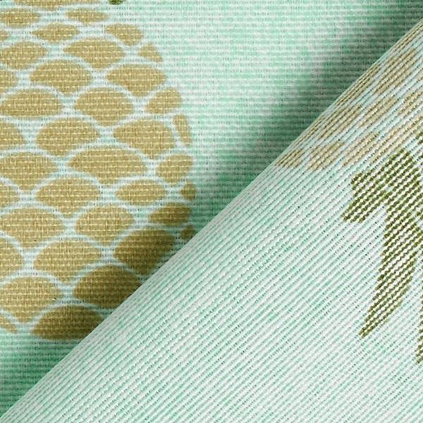 Tissu de décoration ottomane Ananas – bleu bébé