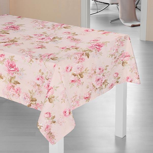 Tissu de décoration ottomane Imprimé roses – rose