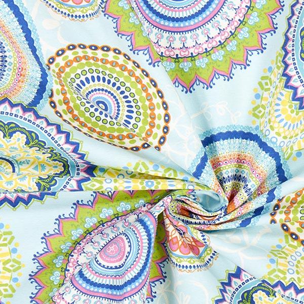 Tissu de décoration Ottoman Mandala – bleu bébé