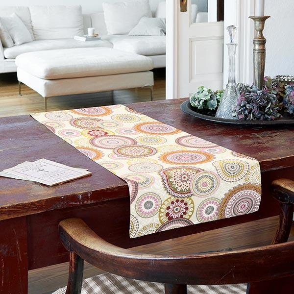 Tissu de décoration Ottoman Mandala – rose