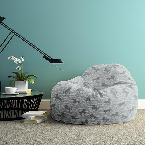 Tissu de décoration Chevaux graphiques – gris