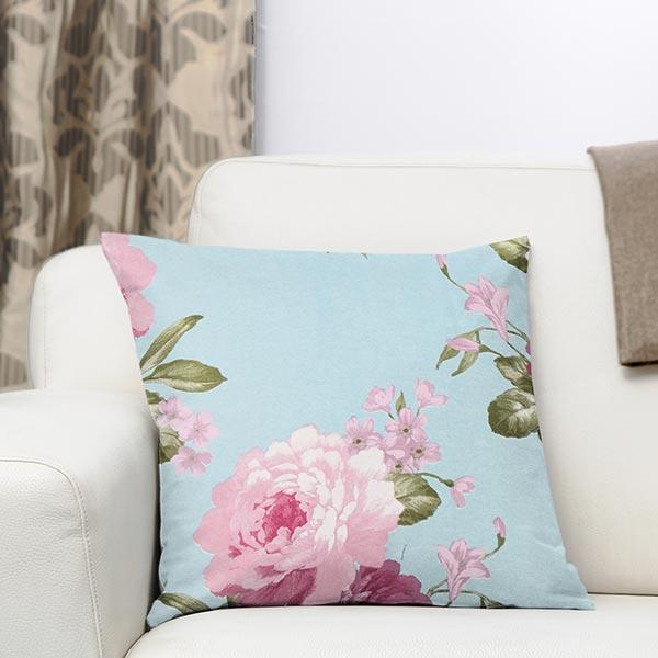 Tissu de décoration ottomane Fleurs – bleu clair