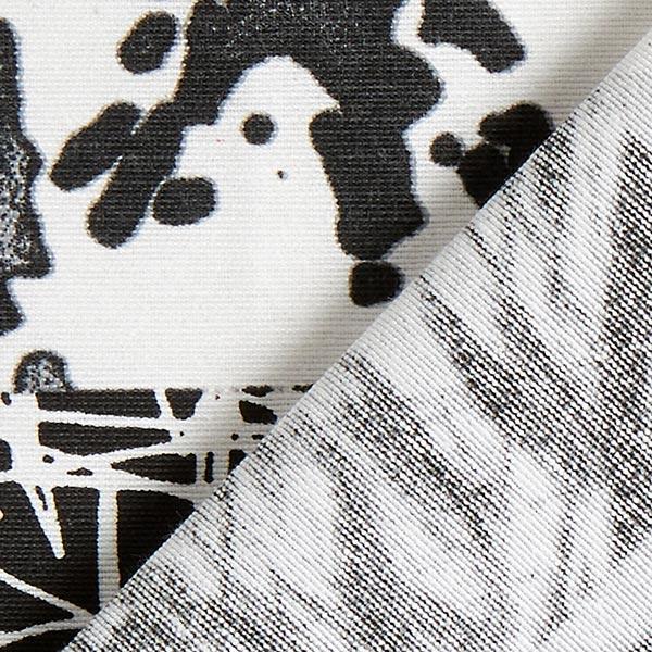 Tissu de décoration ottomane mélange de motifs – noir